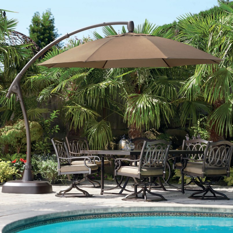 Lowes Cantilever Umbrella | Backyard Creations Patio Furniture | Costco Offset Umbrella