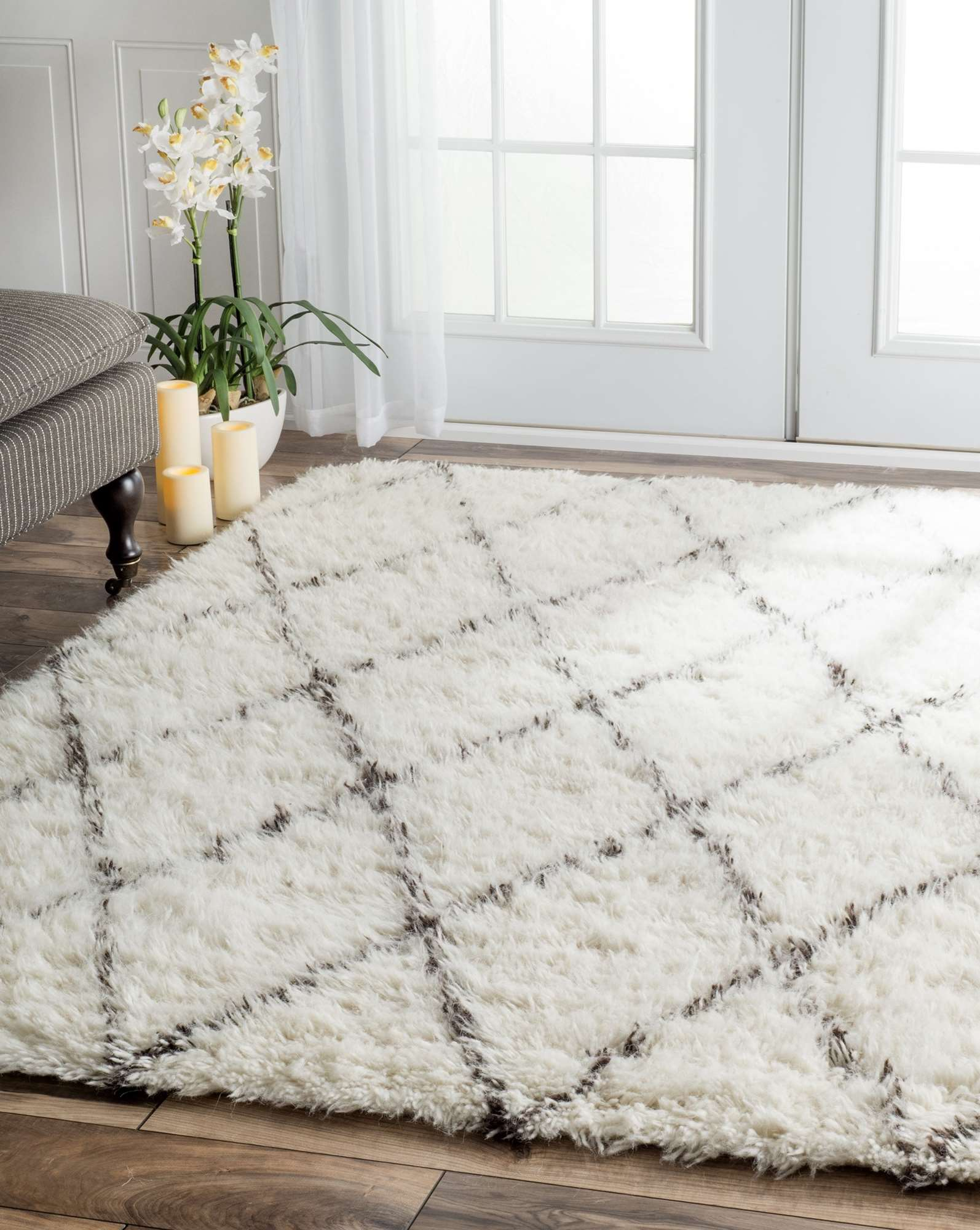 Marvelous Shaggy Contemporary Area Rugs Idea | Winsome Marrakesh Shag Rug