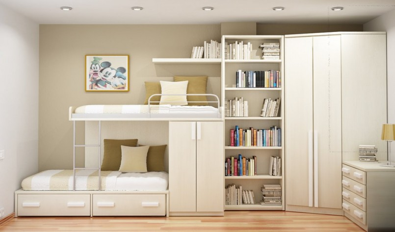 Offset Bunk Beds | Bunk Beds For Small Rooms | Bunk Bed Blueprints