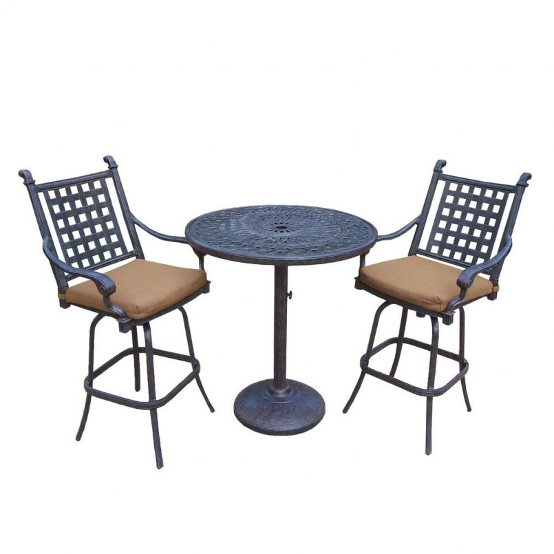 Patio Bar Height Chairs | Bar Height Patio Sets | Cast Aluminum Patio Dining Sets