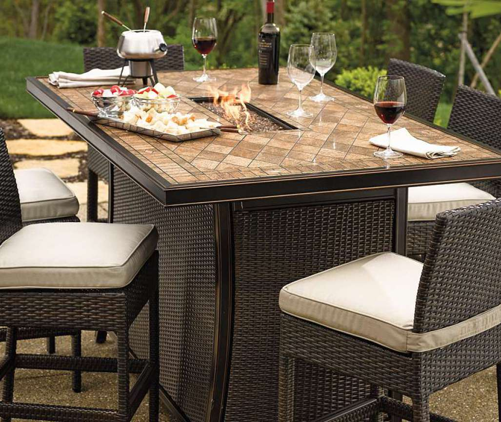 Patio Bistro Table | Square Patio Dining Table | Bar Height Patio Sets
