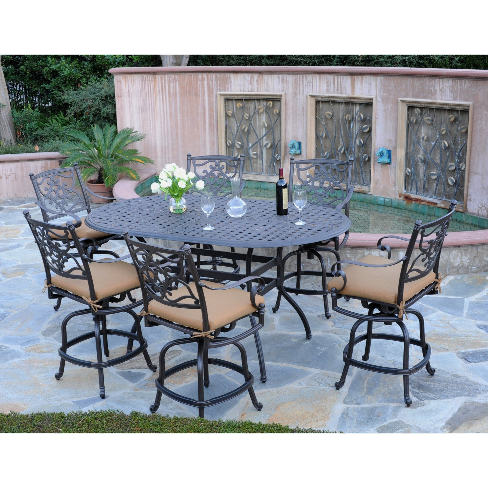 Patio Sets at Lowes | Square Patio Dining Table | Bar Height Patio Sets