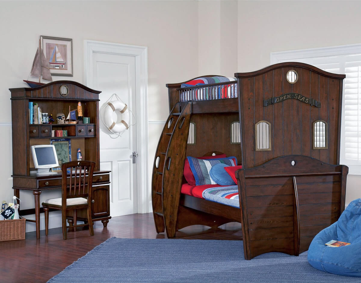 Pirate Bunk Bed | Pirate Ship Bedroom | Little Tikes Pirate Bed