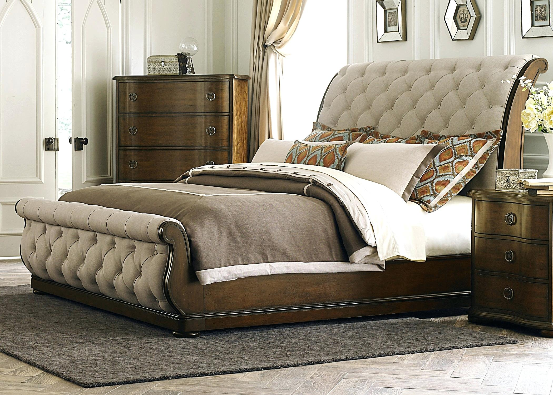 Platform Bed Headboard | Pottery Barn Sleigh Bed | Pottery Barn Valencia