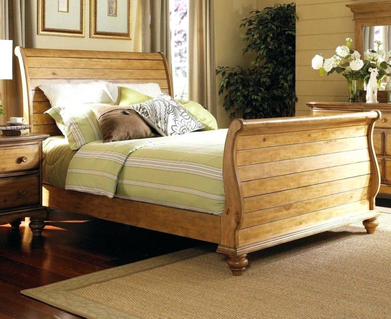 Pottery Barn Sleigh Bed | King Size Bed Frames With Headboard | Headboards Nyc