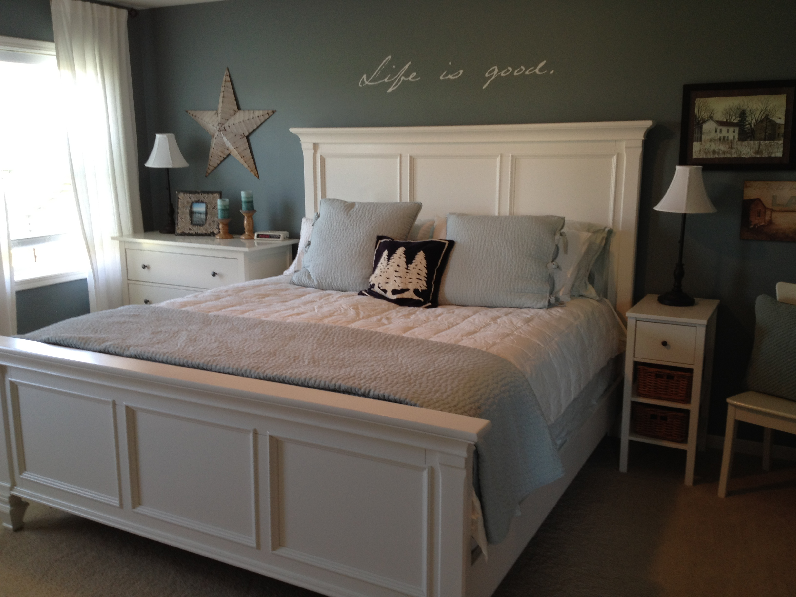 Bedroom: Upholstered Bed Frames | Pottery Barn Sleigh Bed | King ...