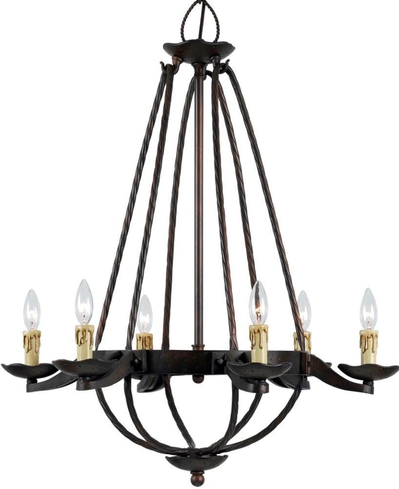 Redoubtable Gothic Chandelier | Extraordinary Mexican Wrought Iron Chandelier