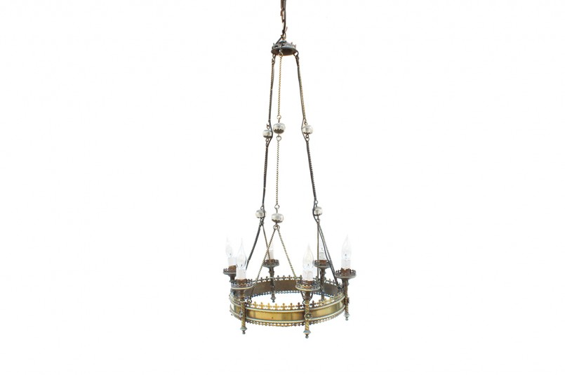 Snazzy Gothic Chandelier | Winsome Wrought Iron Outside Lights