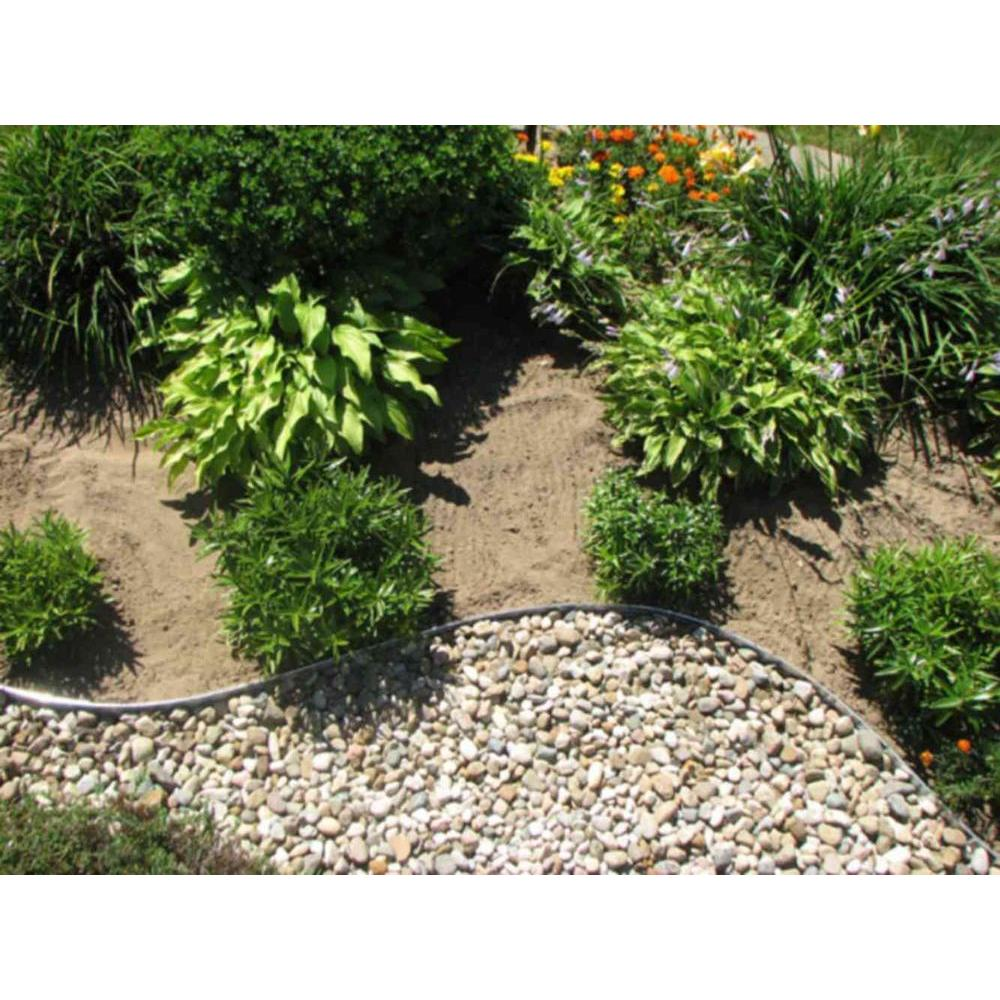 Stone Flower Bed Border | Home Depot Landscape Edging | Driveway Edging Materials