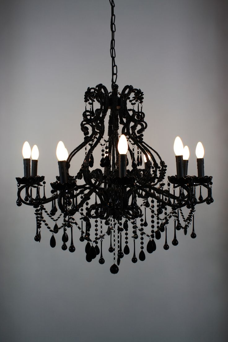 Stylish Gothic Chandelier | Immaculate Wrought Iron Outdoor Lighting Fixtures