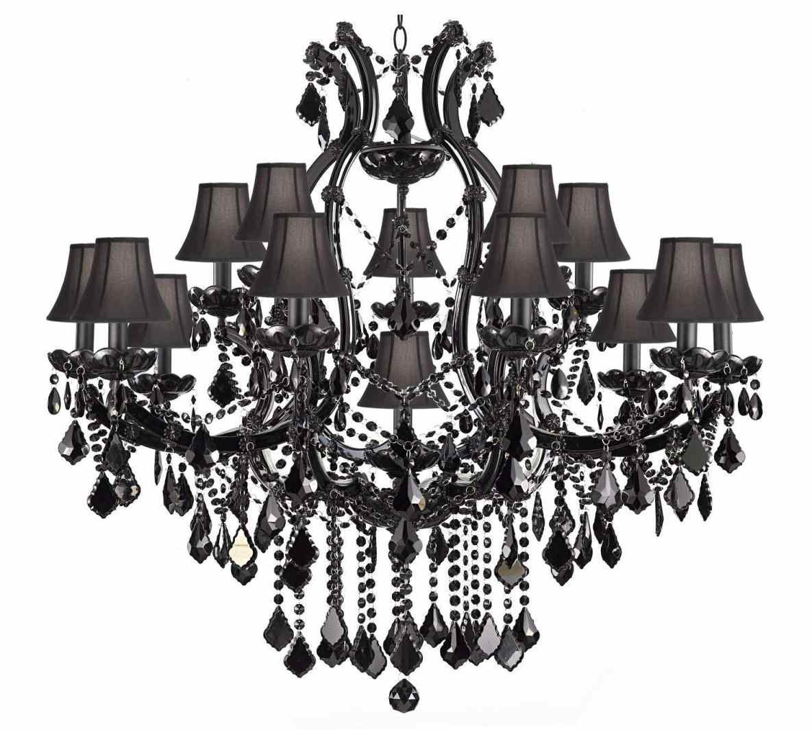 Stylish Wrought Iron Outdoor Lighting | Captivating Gothic Chandelier Idea