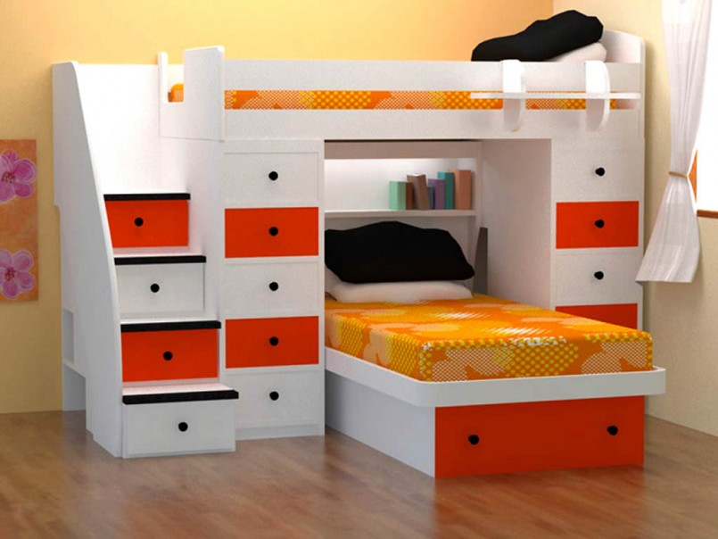 Triple Bunk Bed Ideas | Bunk Beds For Small Rooms | Room And Board Bunk Beds