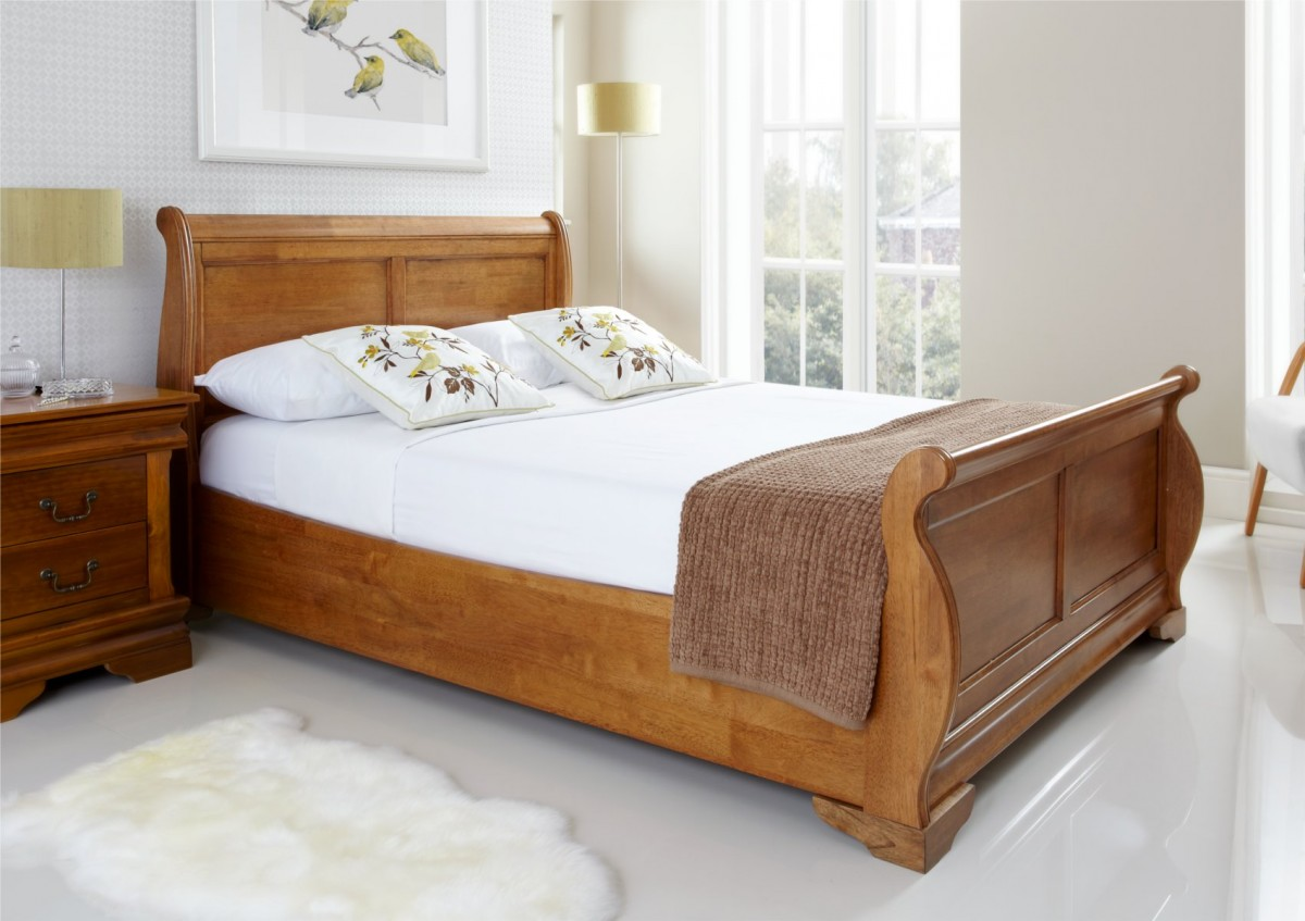 Tufted Full Size Bed | Full Size Headboards | Pottery Barn Sleigh Bed
