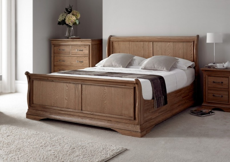 Tufted Full Size Bed | Wood Headboard For Queen Size Bed | Pottery Barn Sleigh Bed