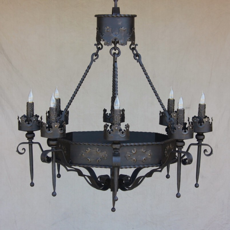 Unique Gothic Chandelier | Marvelous Wrought Iron Exterior Light Fixtures