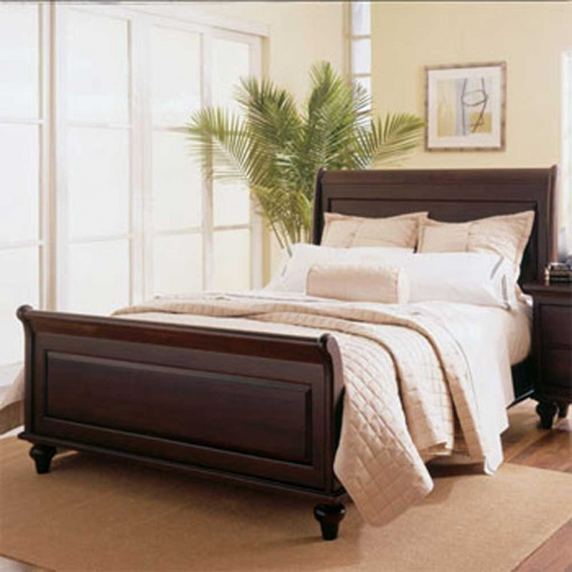 Upholstered Bed Set | Pottery Barn Sleigh Bed | Bed Backboard
