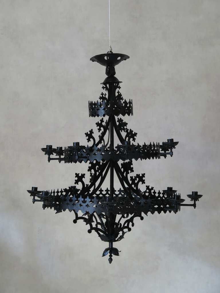 Vivacious Gothic Chandelier | Marvelous Hand Forged Outdoor Lighting