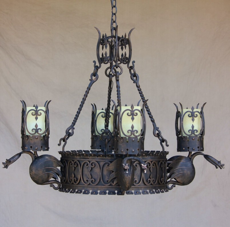 Winsome Hand Forged Wall Sconces | Wonderful Gothic Chandelier Designs