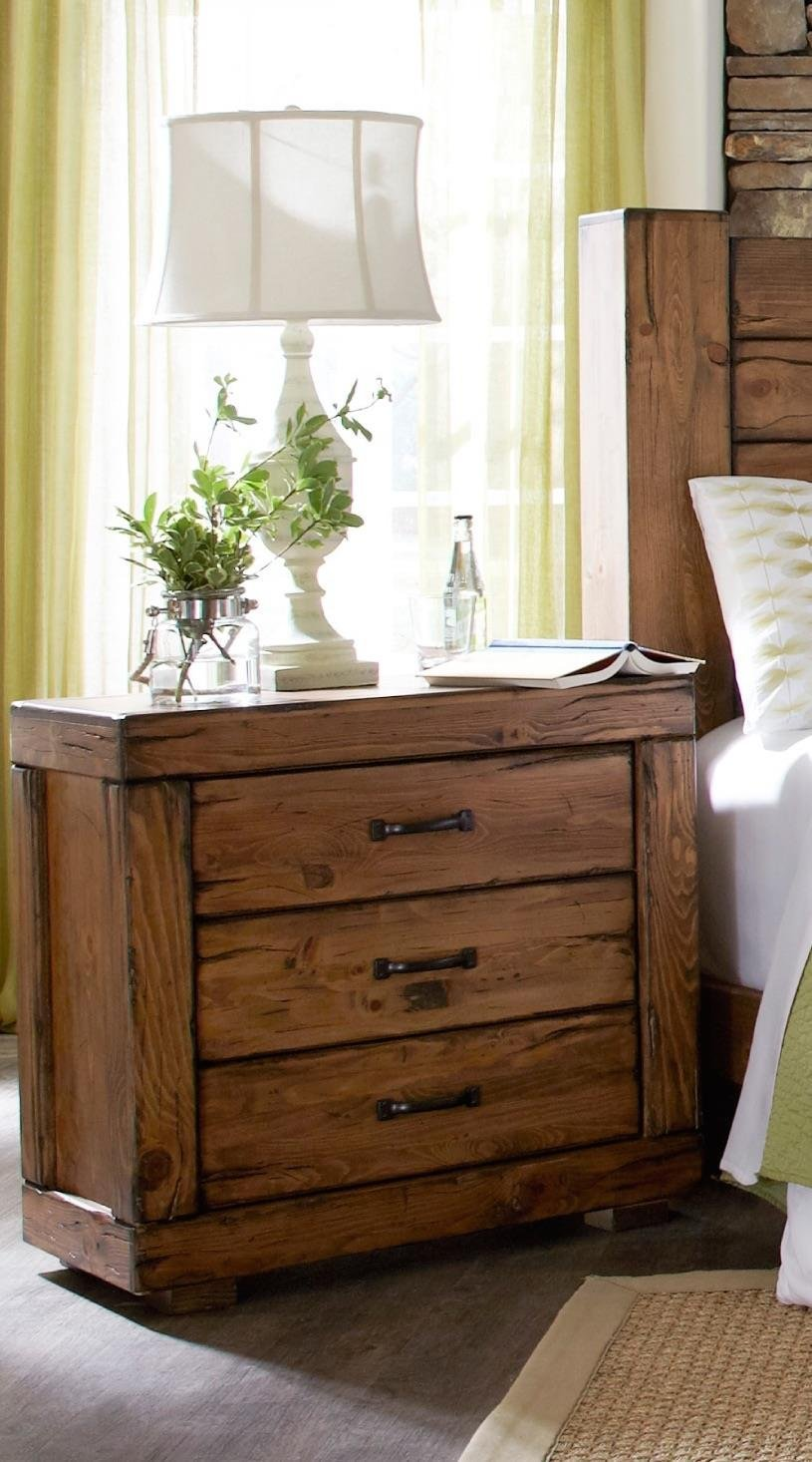 Adorable Bedside Table Reclaimed Wood | Attractive Rustic Nightstand