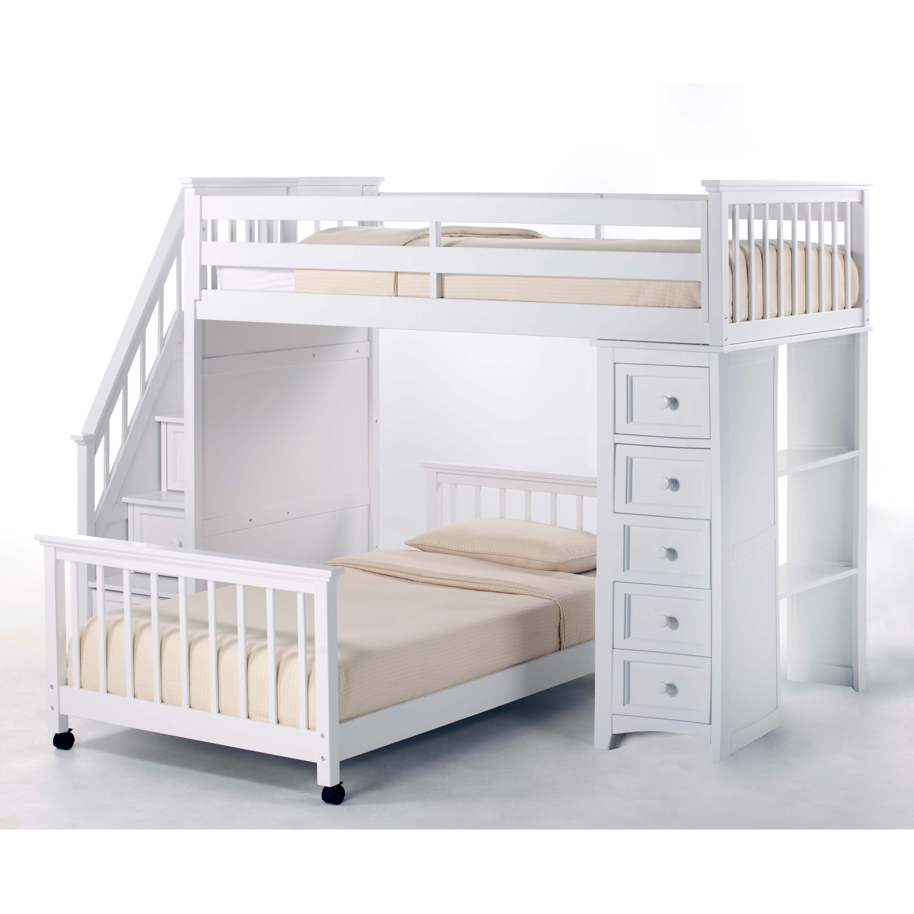Amazing Canwood Loft Bed | Comfy Canwood Whistler Junior Loft Bed White