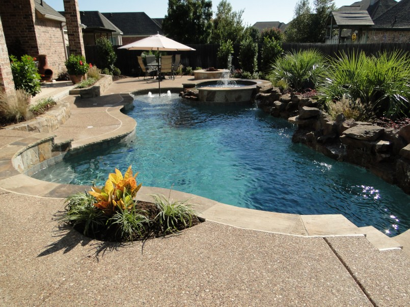 Backyard cool backyard pool designs for your outdoor space for Average cost of swimming pool inground