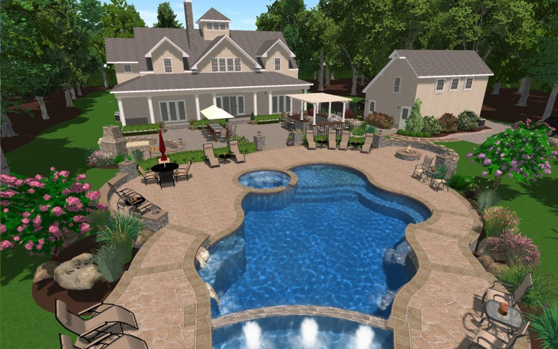 Backyard Pool Designs | Build Your Own Inground Pool | How To Build An Inground Pool