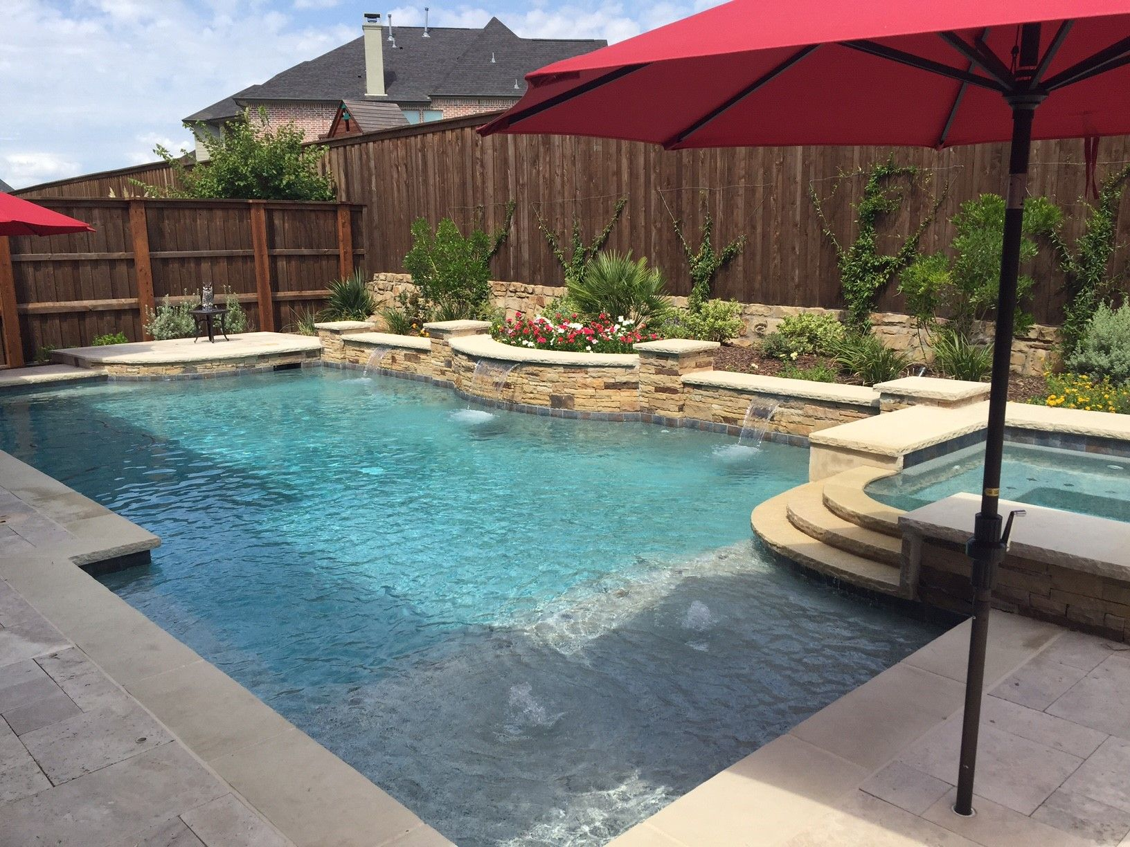 Backyard Pool Designs | Pool Cabana Ideas | Inground Swimming Pool Designs