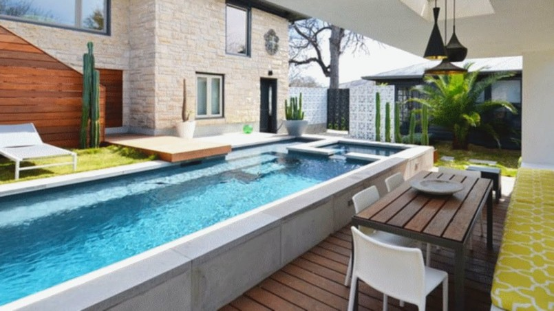 Backyard cool backyard pool designs for your outdoor for Design my own pool