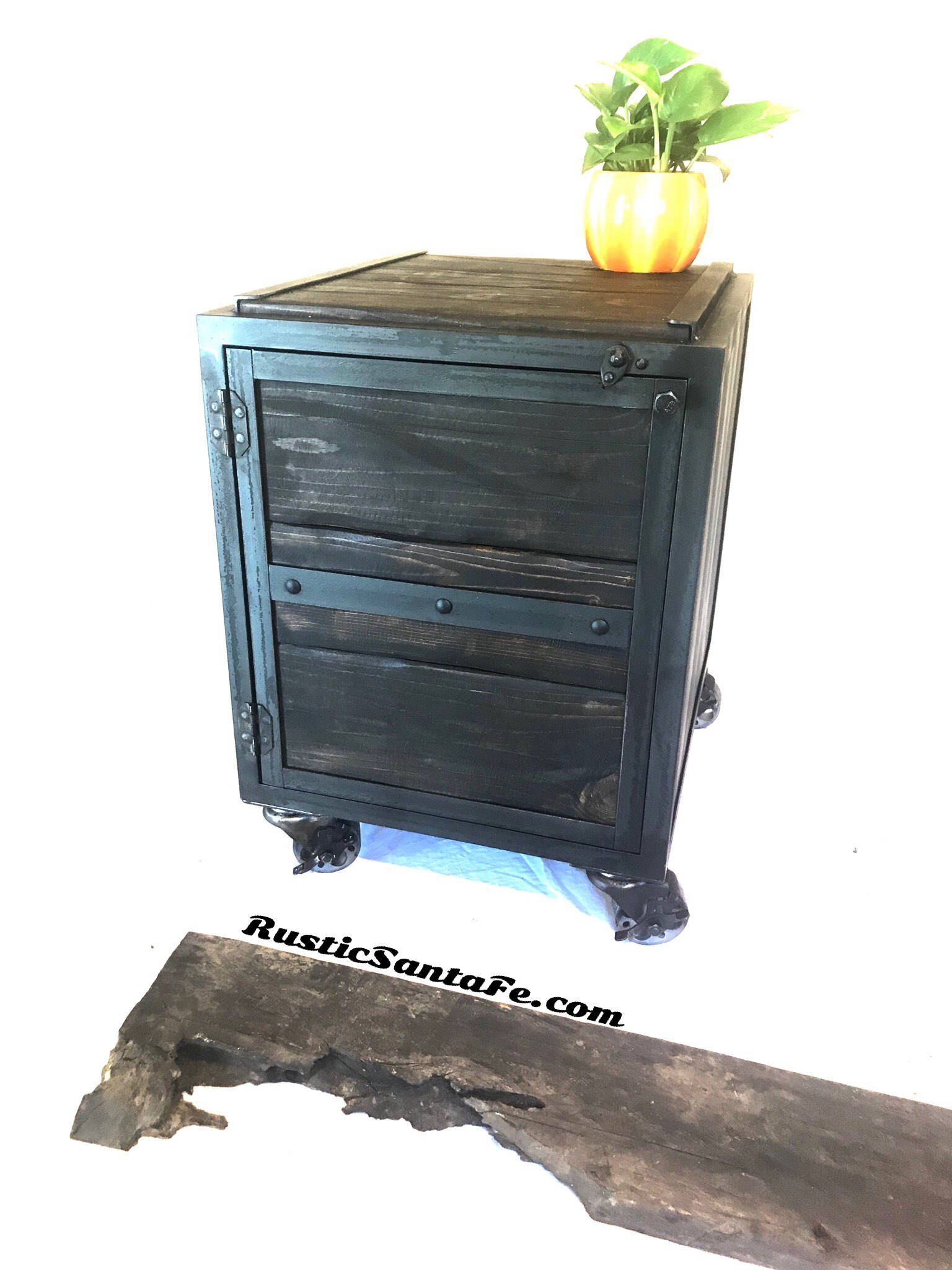 Beautiful Rustic Nightstand | Elegant Rustic Pine Nightstand
