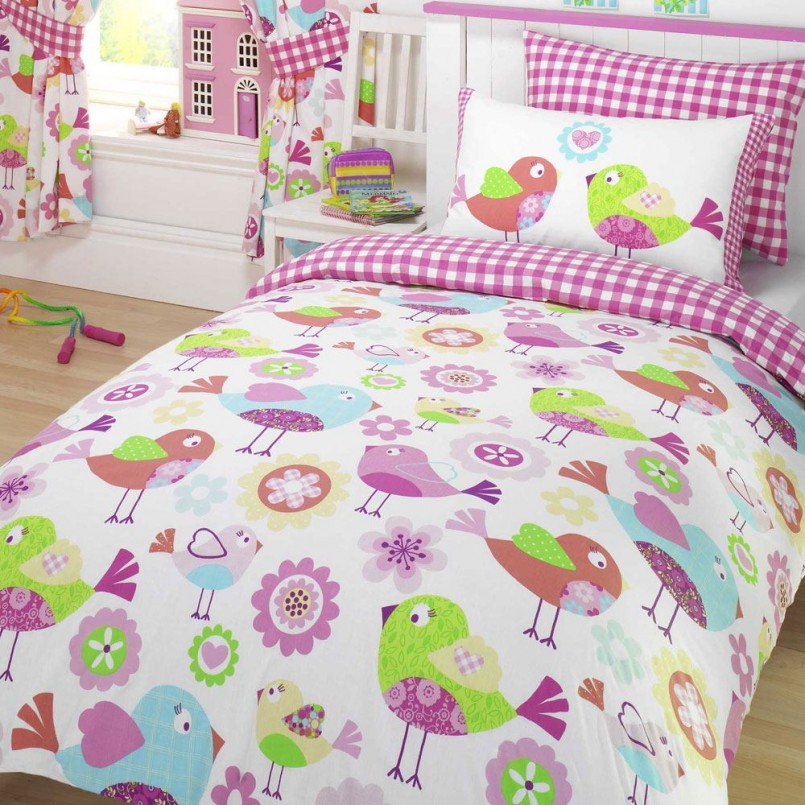 Boys Cotton Duvet Covers | Horse Coverlet | Horse Bedding For Girls