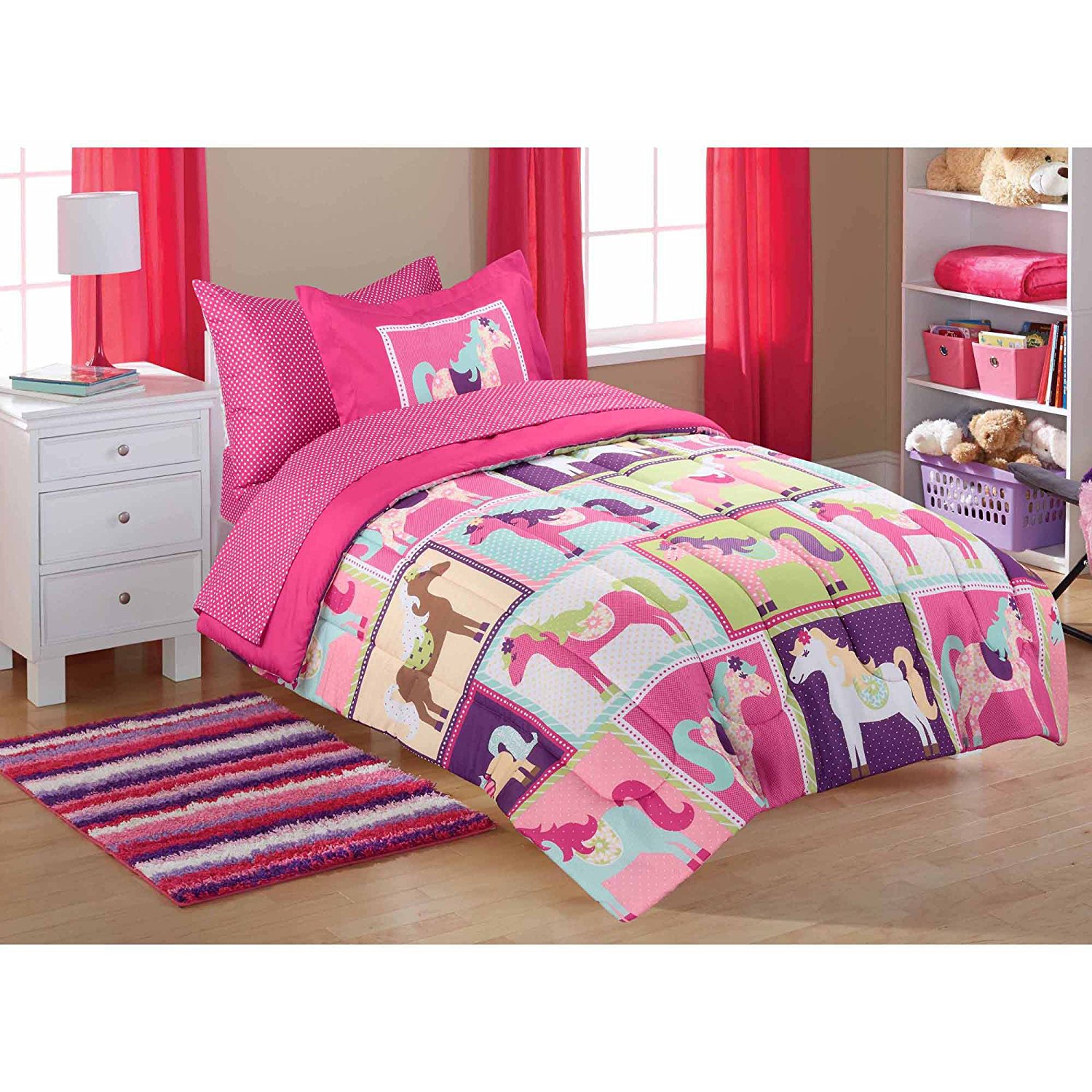 Boys Western Bedding | Boys Cotton Duvet Covers | Horse Bedding for Girls