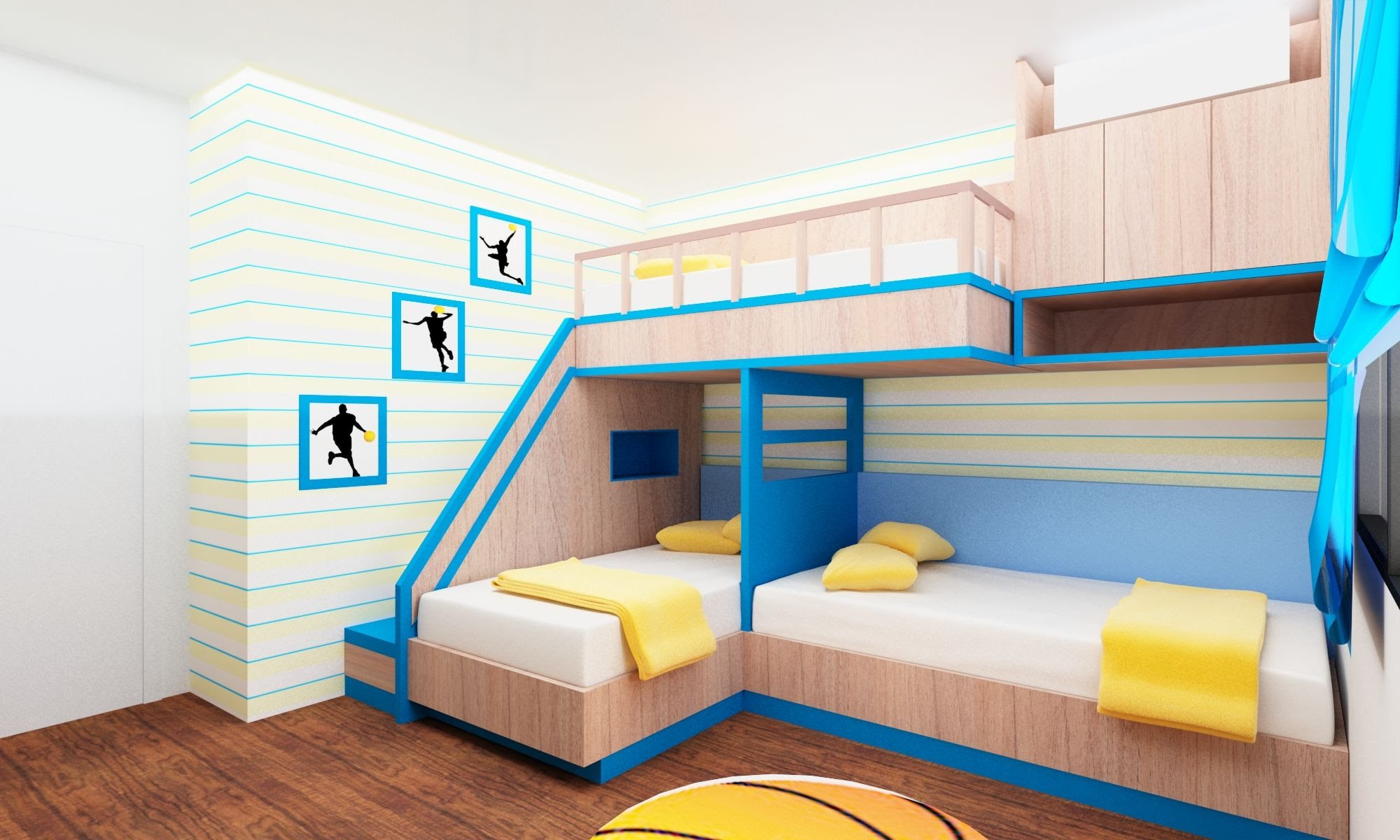 Bunk Beds with Full Size Bottom | Futon Bunk Bed with Desk | Modern Bunk Beds