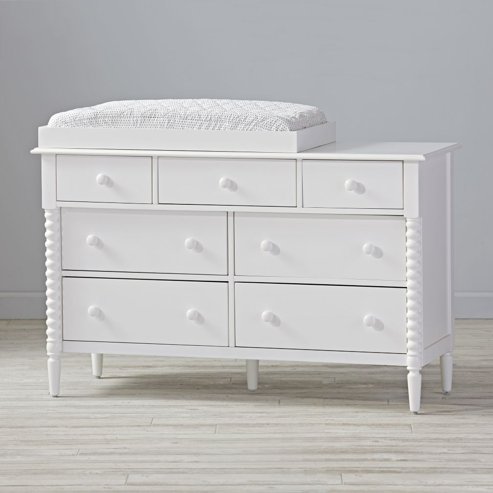 Changing Pad on Dresser | Bitty Baby Changing Table | Grey Changing Table Dresser