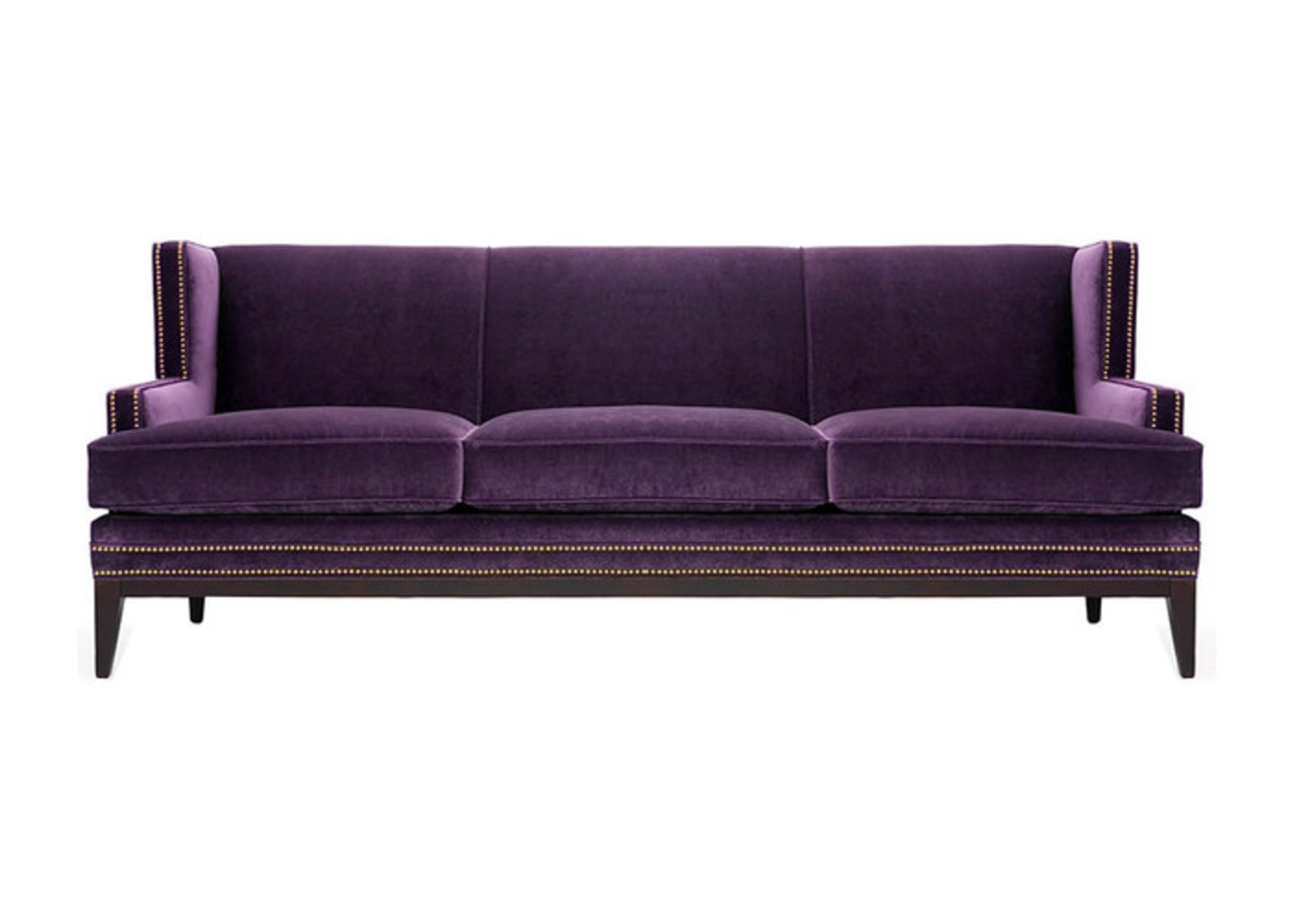 Warm Purple Sofa to Complete Your Living Room Decor: Eggplant Couch | Purple Chaise Lounge Sale | Purple Sofa