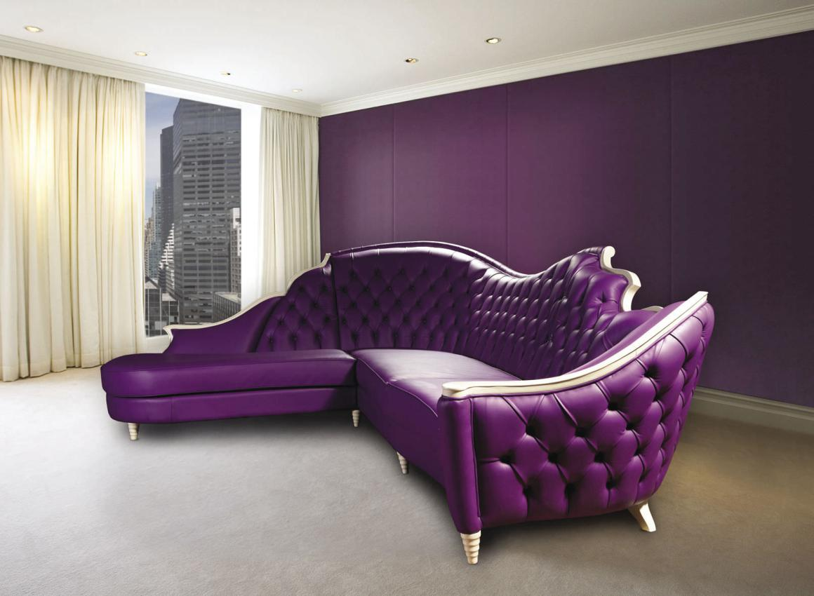 Eggplant Couch | Purple Chaise Lounge Sale | Purple Sofa