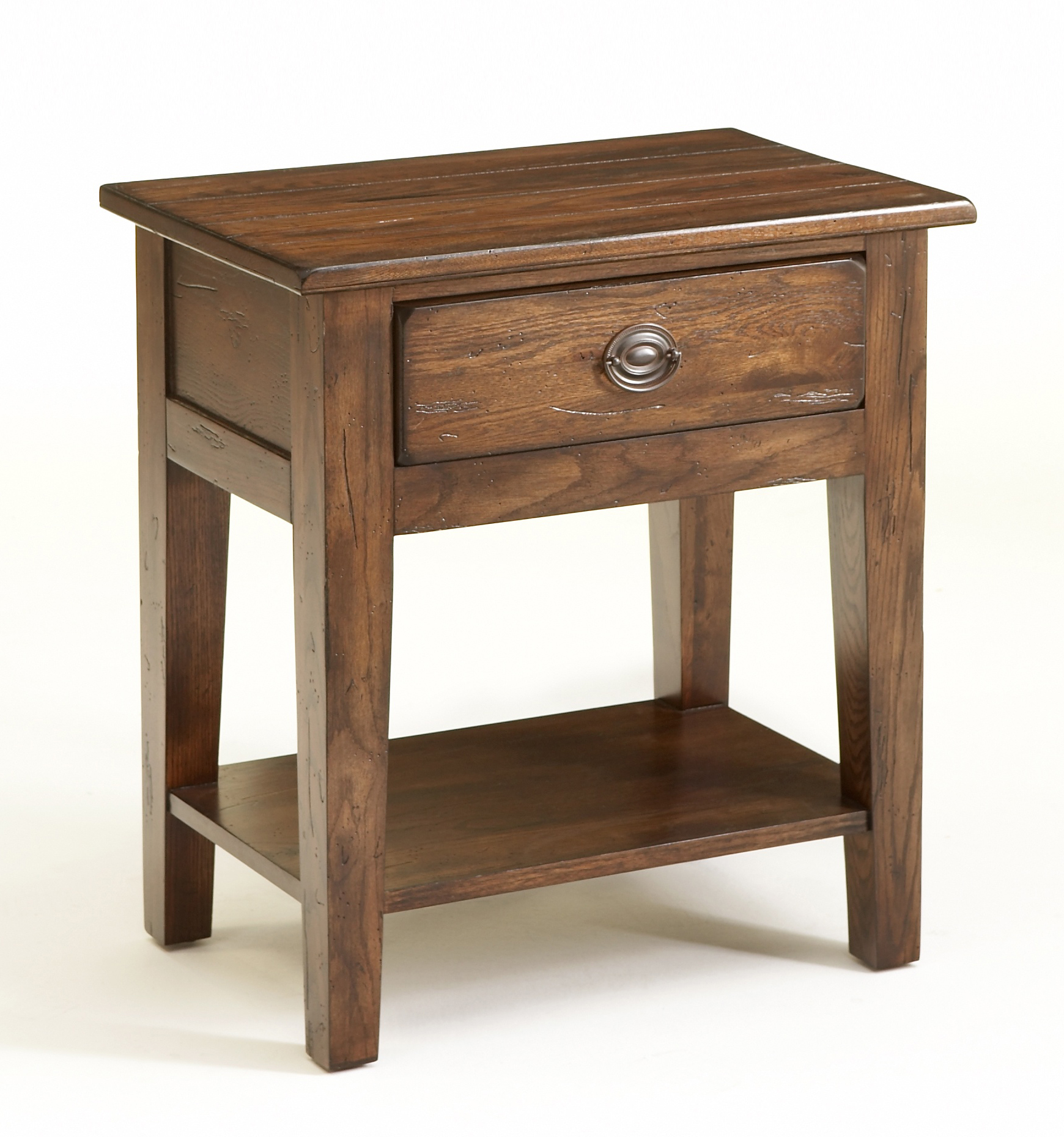 Enticing Solid Wood Night Stands | Interesting Rustic Nightstand