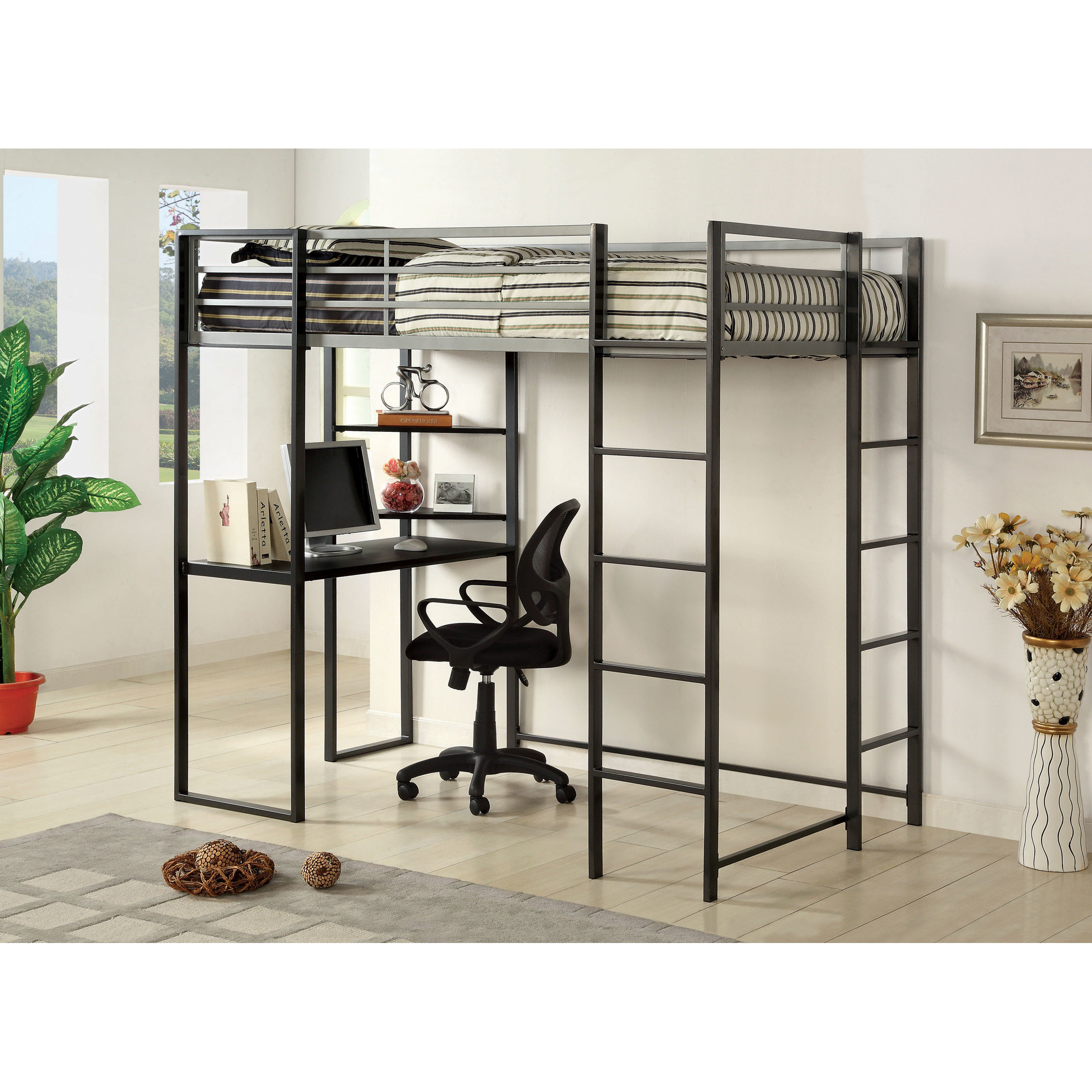 Entrancing Canwood Whistler Storage Loft Bed with Desk Bundle | Fancy Canwood Loft Bed Styles