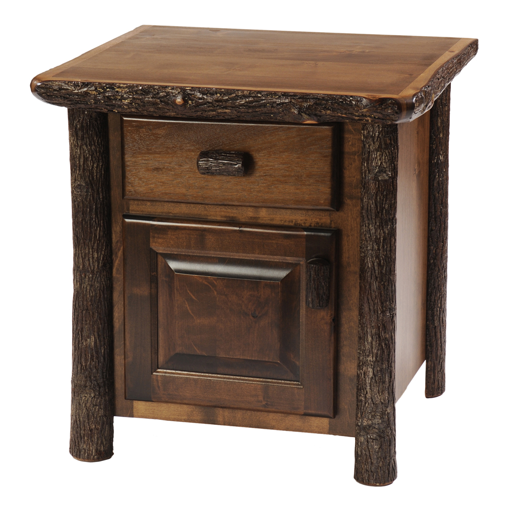 Inspire Your Home with Charming Rustic Nightstand: Entrancing Rustic Nightstand | Nice Cedar Nightstand
