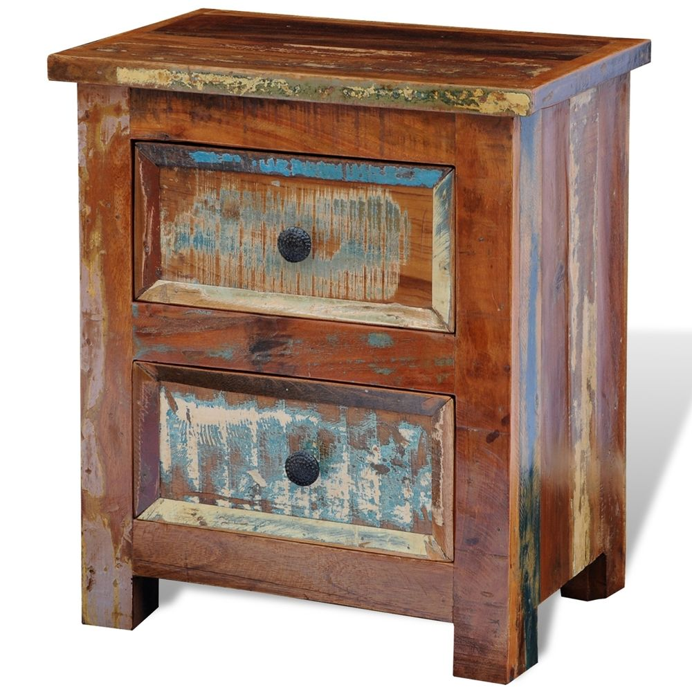 Fancy Rustic Nightstand | Stylish Reclaimed Wood Bedside Table