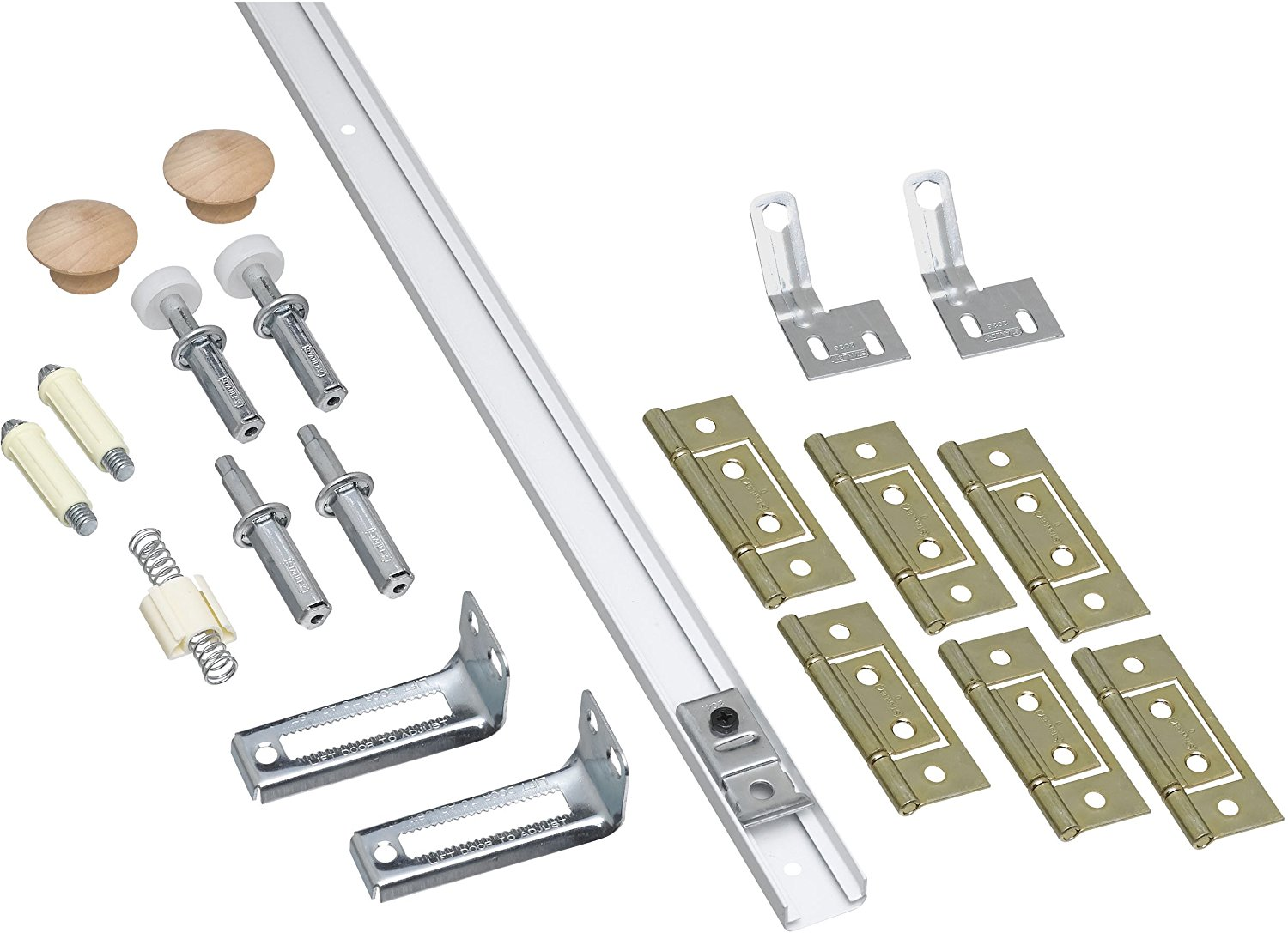 Door bifold closet door hardware for your doors and for Folding sliding doors home depot