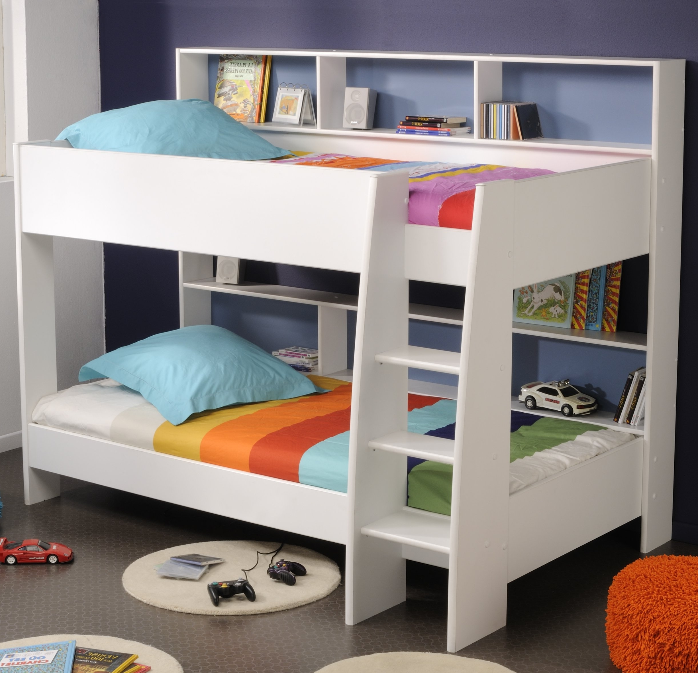 Incredible Style and Modern Bunk Beds for Kids Bedroom: Futon Bunk Bed With Desk | Modern Bunk Beds | Wood Bunk Bed Plans