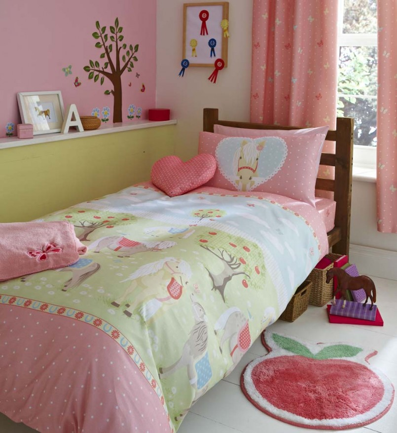 Girls Horse Comforter | Boys Western Bedding | Horse Bedding For Girls