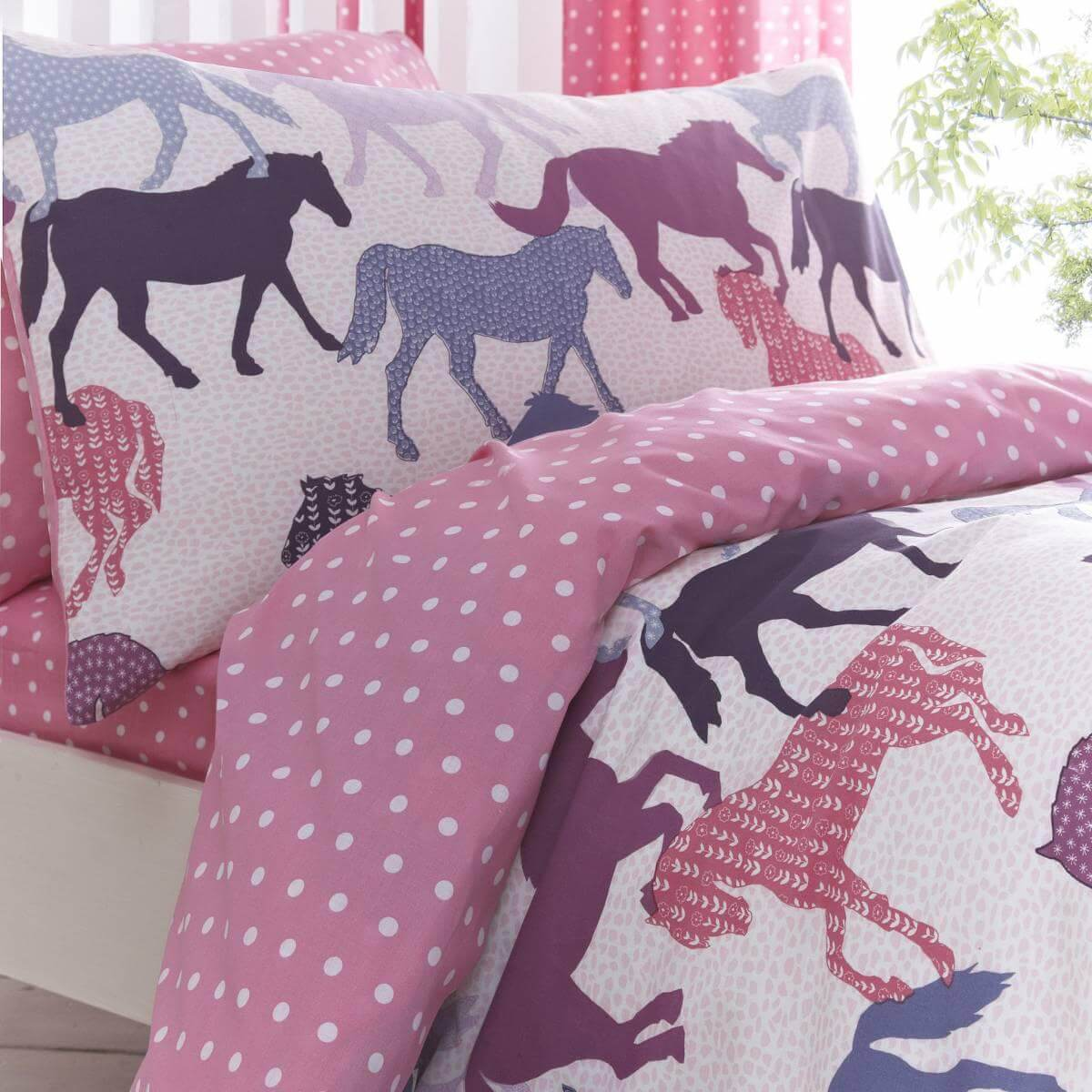 Girls Western Bedding | Horse Bedding for Girls Room | Horse Bedding for Girls