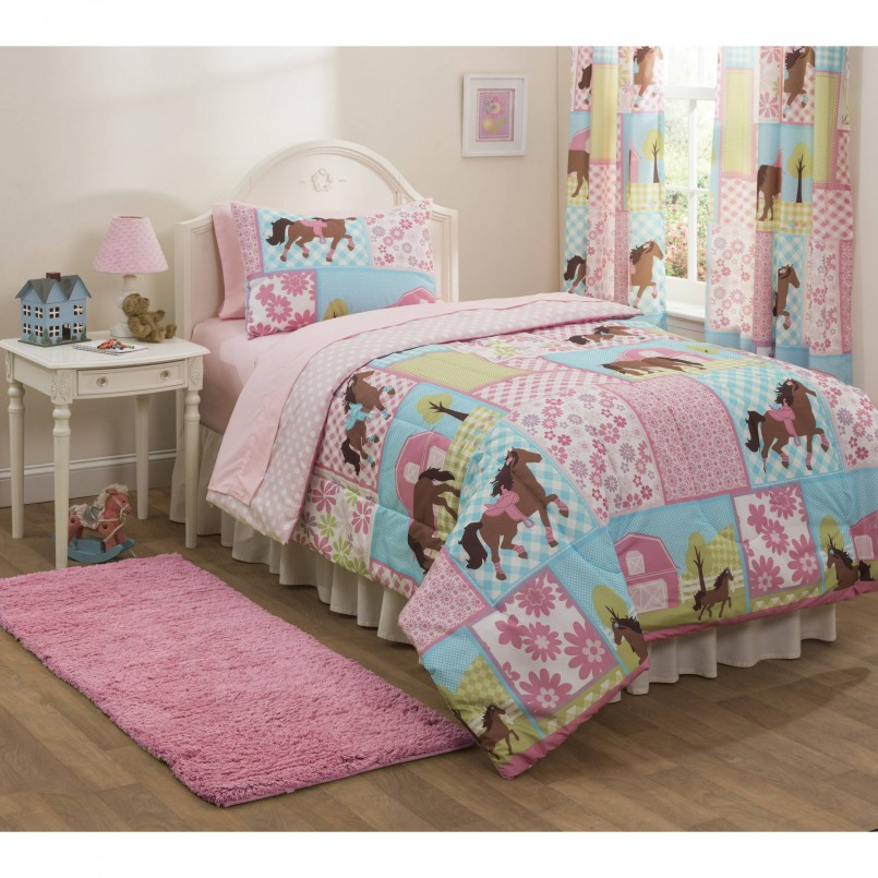 Horse Bed Comforters | Horse Comforter Sets Twin | Horse Bedding For Girls