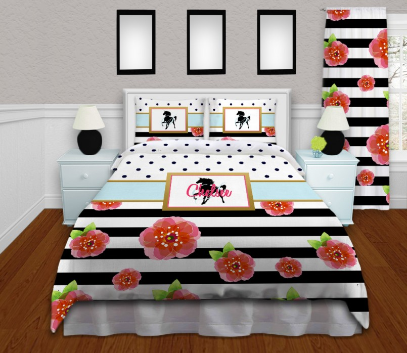 Horse Bedding For Girls | Cowgirl Twin Bedding Set | Full Size Fire Truck Bedding
