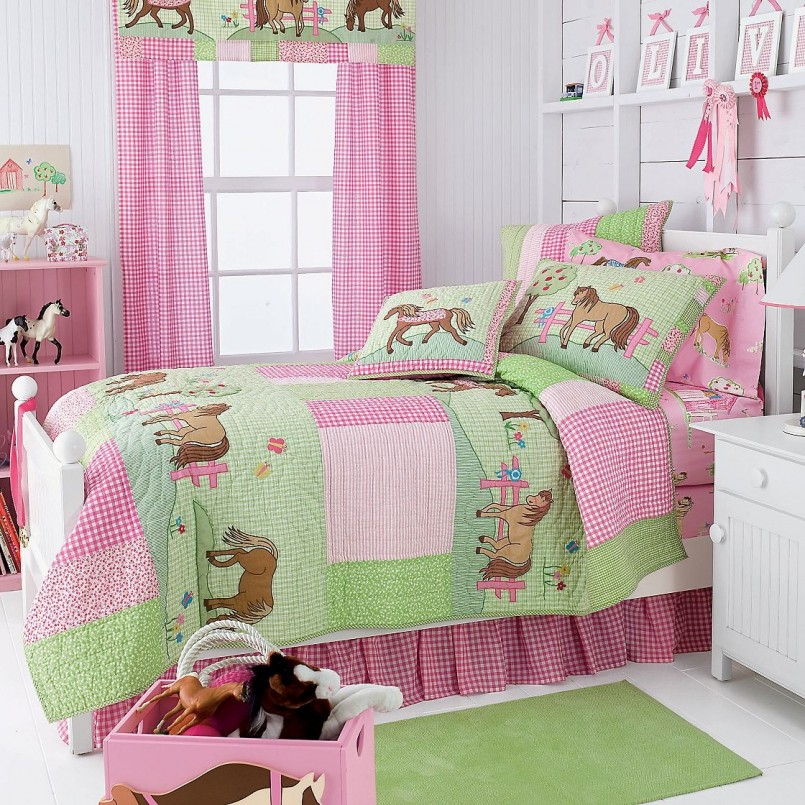 Horse Bedspreads | Horse Bedding For Girls | Animal Bedding For Girls