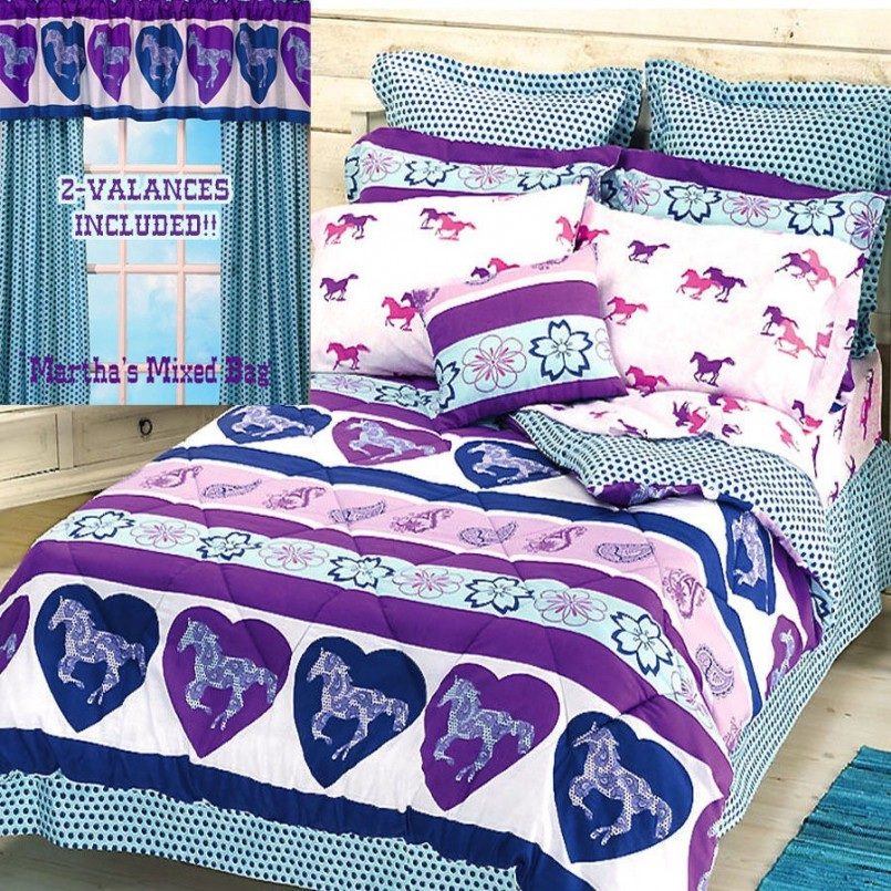 Horse Comforters | Horse Bedding For Girls | Pony Comforter Set