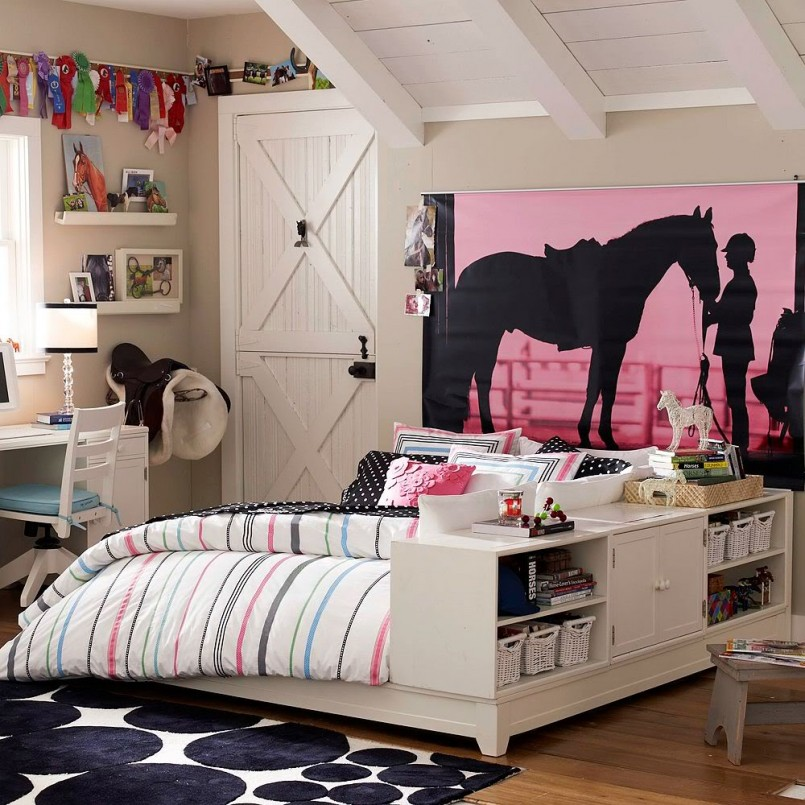 Horse Themed Bedding For Girls | Horse Coverlet | Horse Bedding For Girls