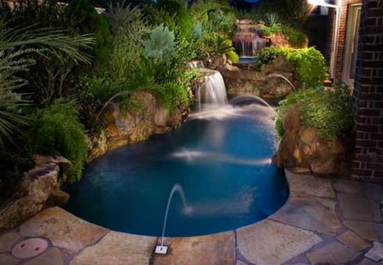 Cool Backyard Pool Designs for Your Outdoor Space: How Much Does It Cost To Tile A Swimming Pool | Backyard Pool Designs | Pictures Of Inground Pools