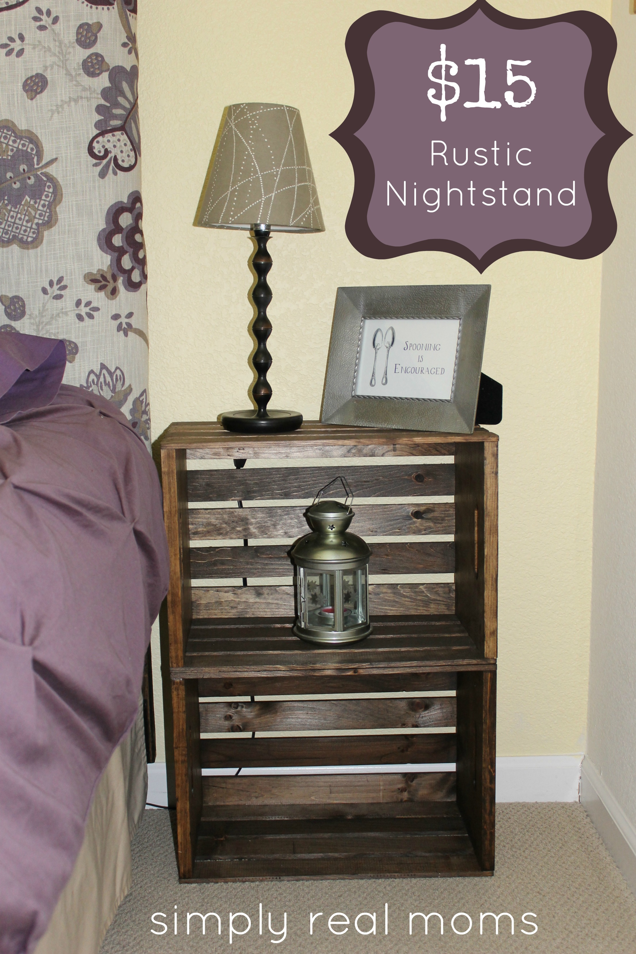 Incredible Rustic Nightstand Inspiration | Fancy Willow Bedside Table